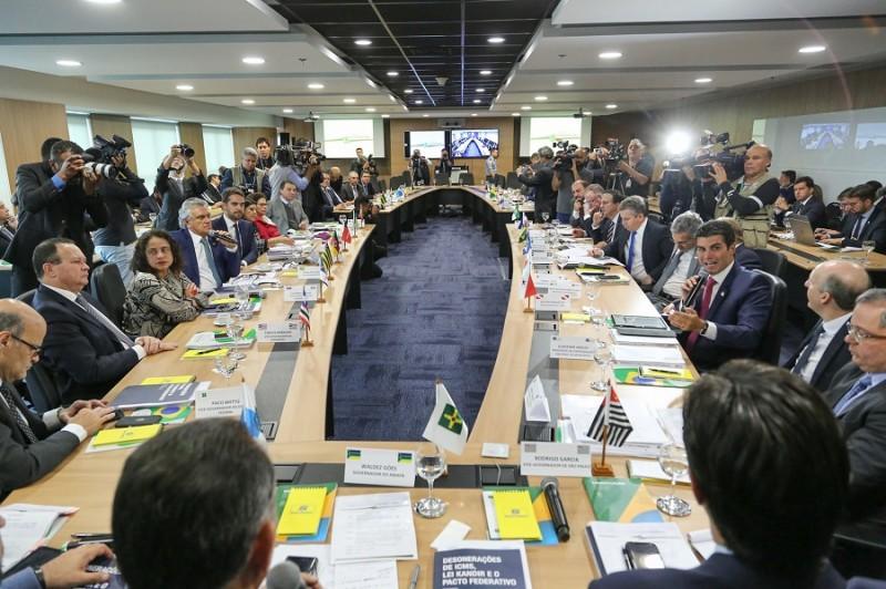 BRASÍLIA, DF, BRASIL, 06/08/2019 - O Governador Eduardo Leite esteve presente, na manhã desta terça-feira (6/8), no 6º Fórum Nacional dos Governadores. Fotos: Gustavo Mansur/ Palácio Piratini