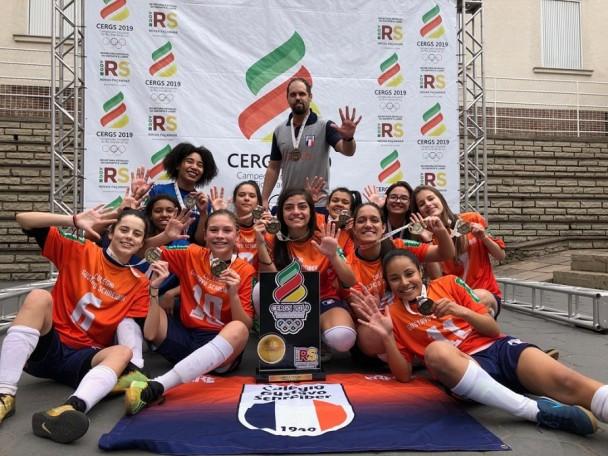 Colégio Gusch de São Leopoldo campeã cergs futsal sub 17