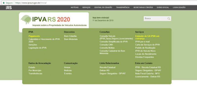 IPVA2020 tela site