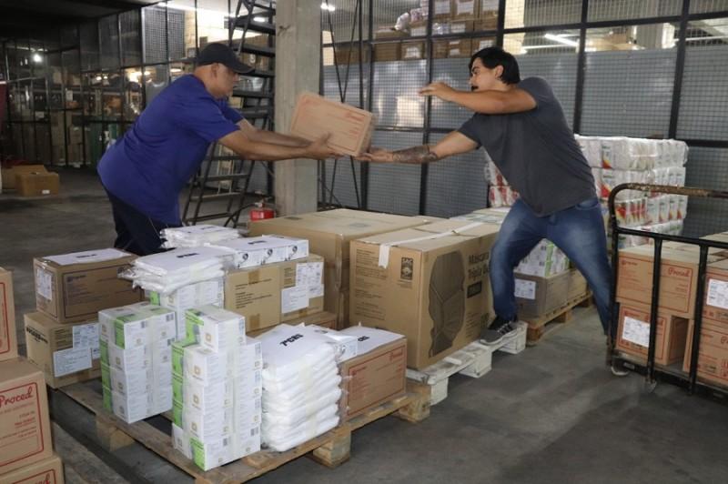distribuição material SES coronavírus