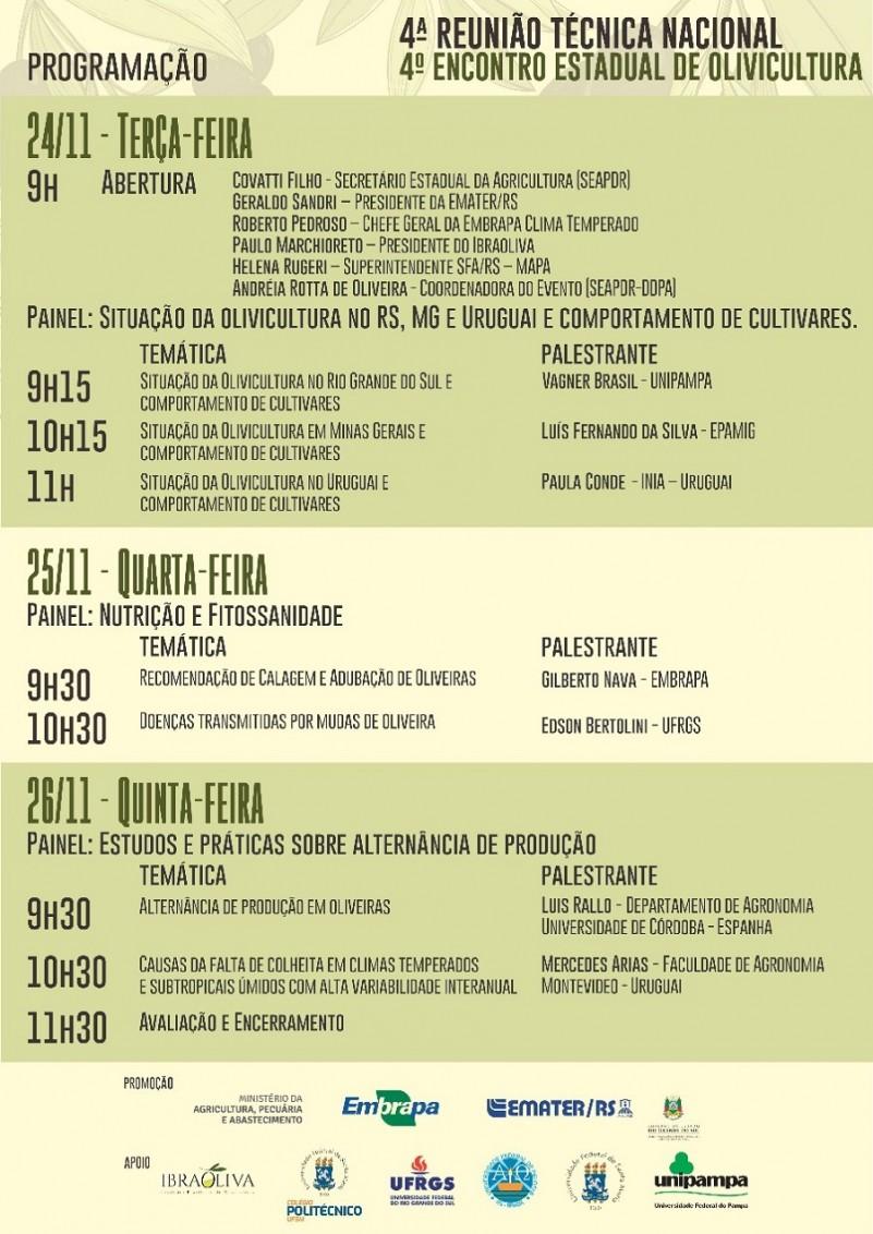 programação evento olivicultura