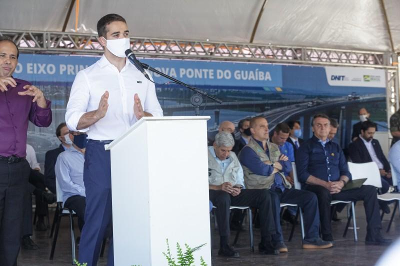 PORTO ALEGRE, RS, BRASIL, 10.12.2020 - Inauguração da ponte do Guaíba. Fotos: Gustavo Mansur/ Palácio Poratini