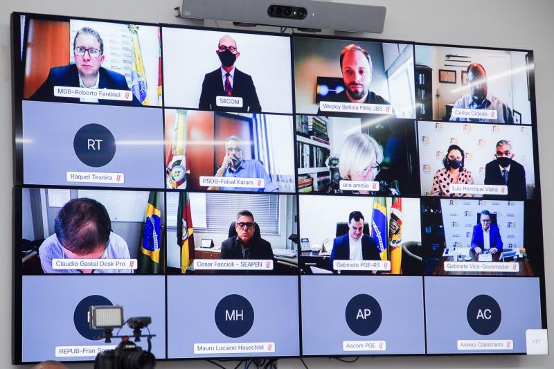 PORTO ALEGRE, RS, BRASIL, 12/04/2021 - JBS anuncia investimentos de R$ 1,7 bilhão no RS até 2023. Fotos: Felipe Dalla Valle/Palácio Piratini
