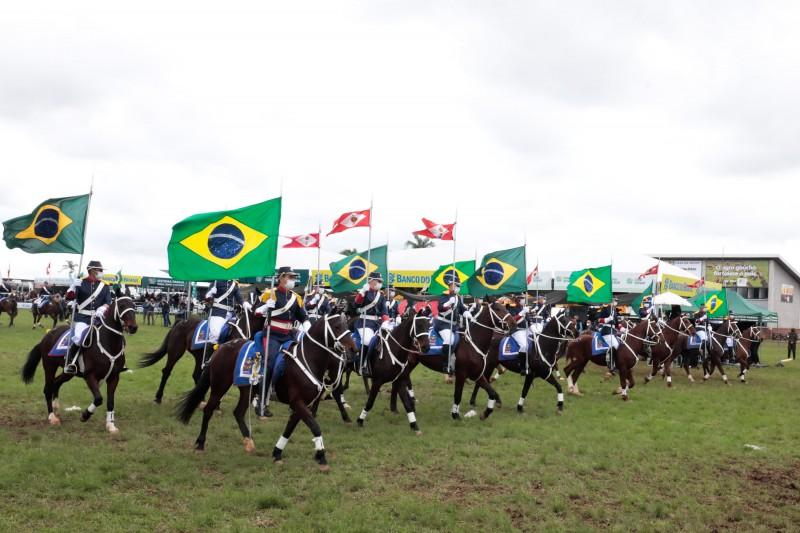 ESTEIO, RS, BRASIL, 10.09.2021 - Abertura oficial da Expointer 2021 e Desfile dos Campeões. Fotos: Itamar Aguiar/ Palácio Piratini